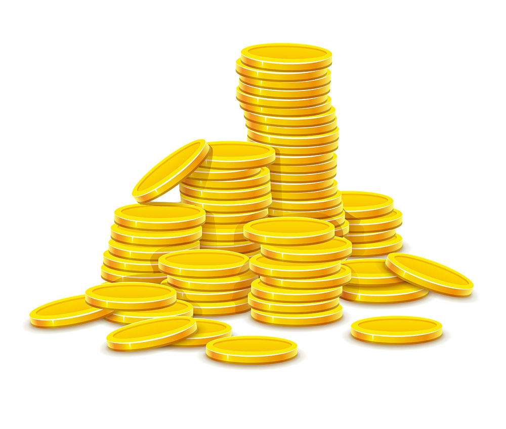 jpg2015072115092525197 Gold coins cash money in rouleau. Eps10 vector illustration. Isolated on white background